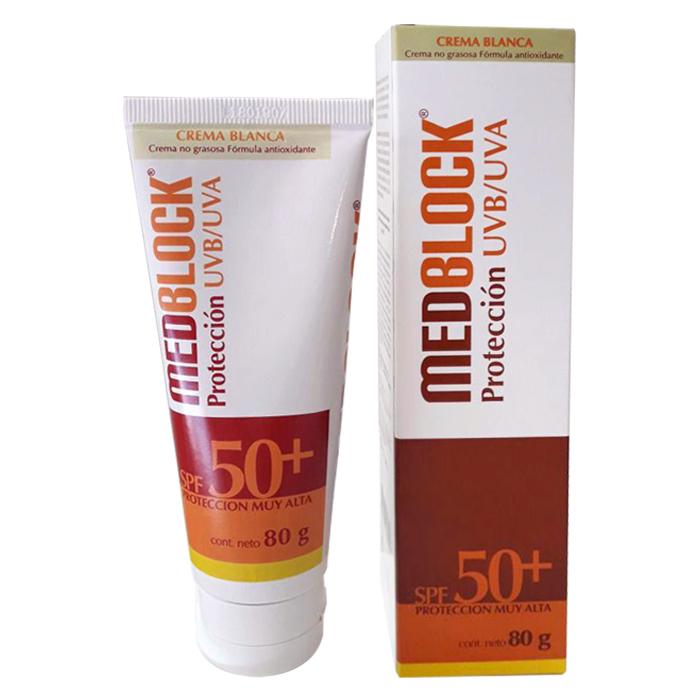 MEDBLOCK SPF50+  SIN COLOR 80GR - Vider Salud Dermatológica