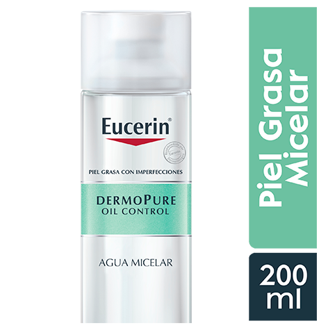 EUCERIN DERMOPURE OIL CONTROL AGUA MICELAR 200ML - Vider Salud Dermatológica