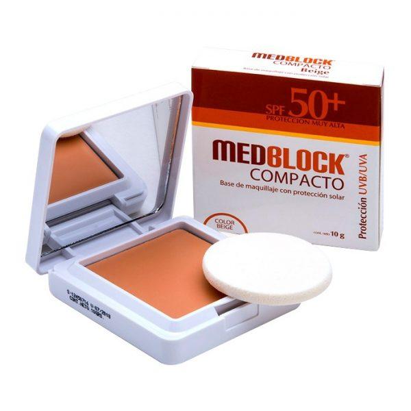 MEDBLOCK SPF50+ COMPACTO 10GR - Vider Salud Dermatológica