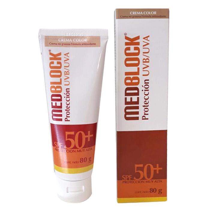 MEDBLOCK SPF50+ CON COLOR 80GR - Vider Salud Dermatológica